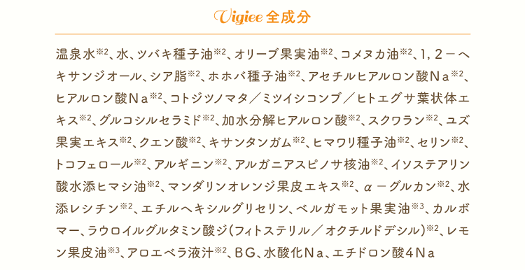 「Vigiee(ビギー)」の全成分