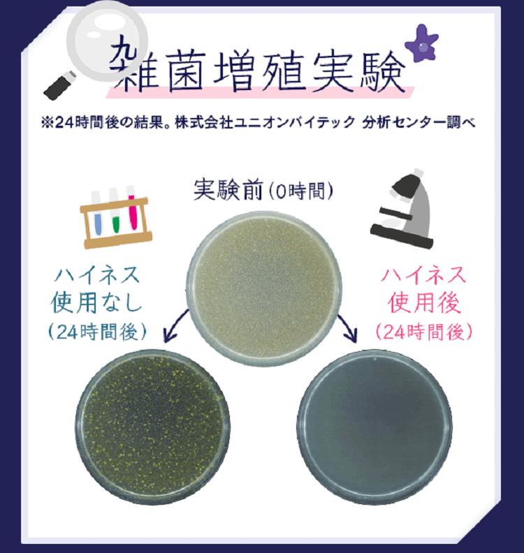 ハイネスの雑菌増殖実験