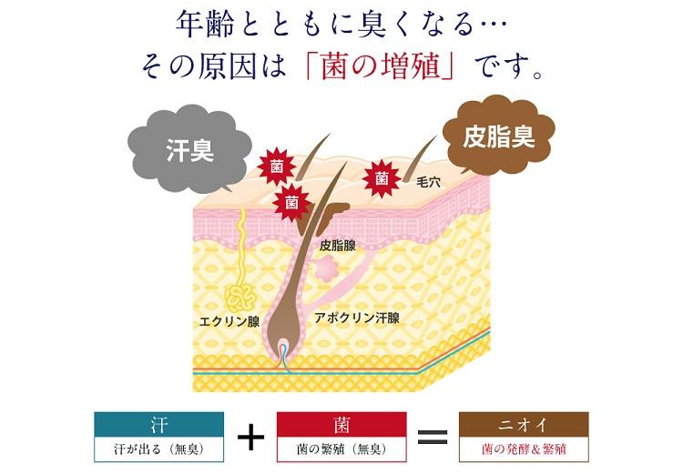 臭いの原因は菌の増殖