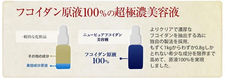 エムズコスメ ニューピュア フコイダンは原液100%